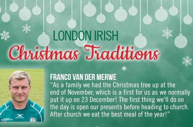 Irish Christmas Traditions.London Irish Christmas Traditions 26th December 2017